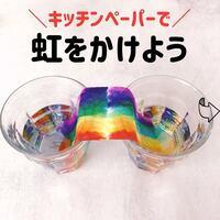 【おうちでSTEAM教育】思わず感動!どうしてキッチンペーパーにきれいな虹がかかるの?