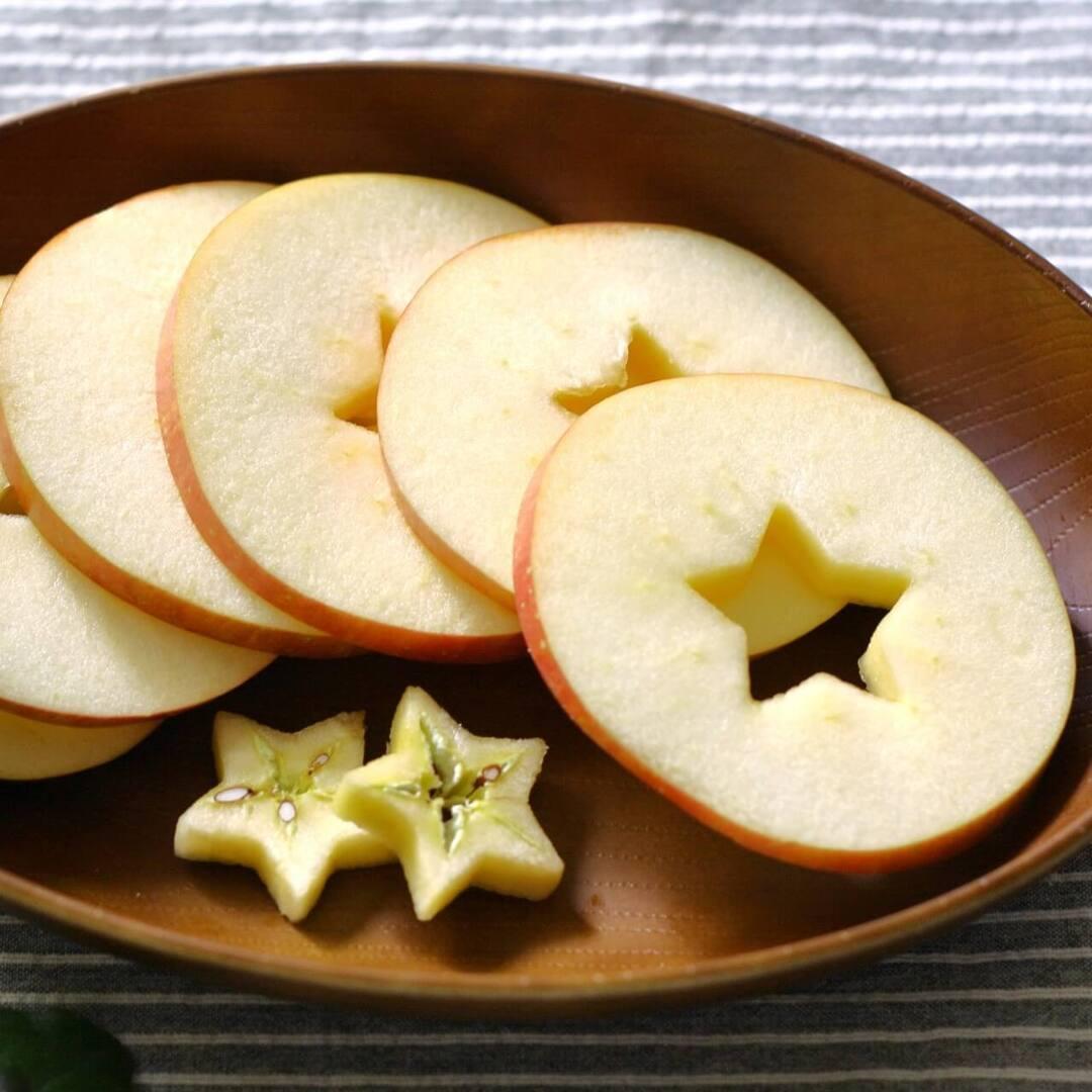 """もう""""くし型切り""""に戻れない…子育て家庭に伝えたい【りんごのスターカット】は食べやすい!栄養たっぷり!ゴミも少ない!"""