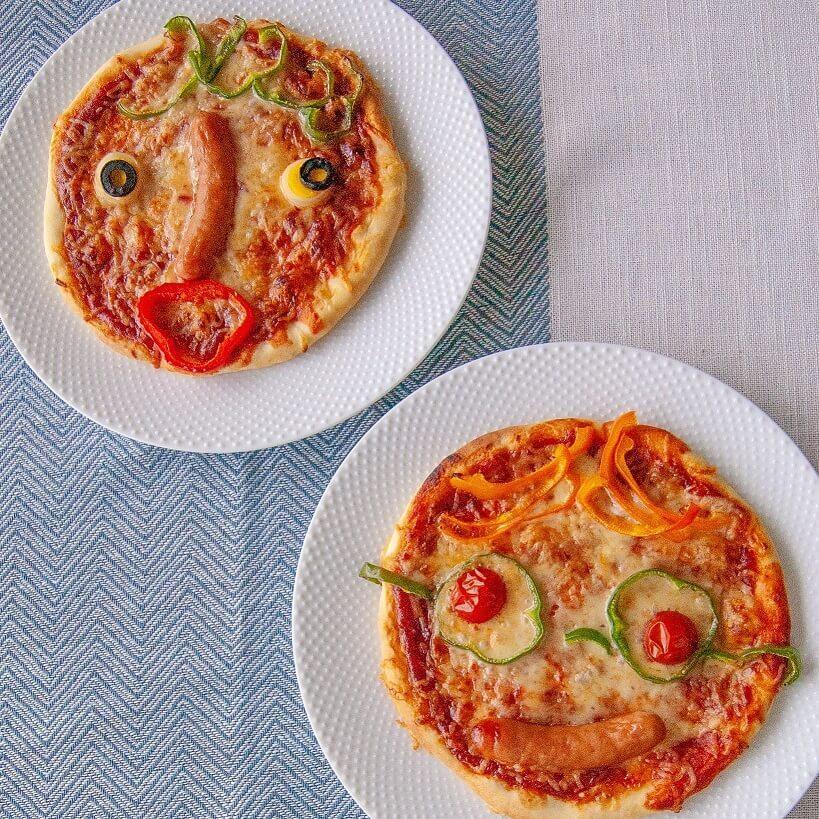 父の日にパパのお顔ピザを作ろう♪パパ大感激&子どもの想像力もふくらむ!